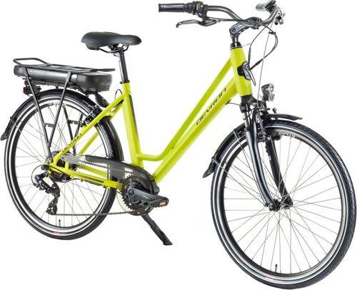 """Devron Miejski rower elektryczny Devron 26122 - model 2018 Kolor Żółty, Rozmiar ramy 18"""""""