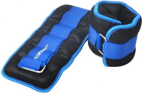 Axer Fit Obciążniki Velcro 2x1kg czarno-niebieskie (25832)