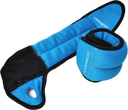 Axer Fit Obciążniki Velcro 2x1kg niebieskie (A1807)