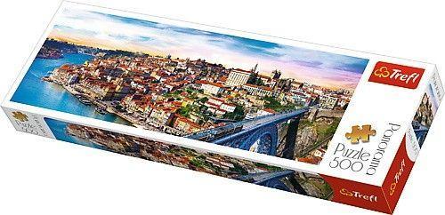 Trefl Puzzle, 500 elementów. Panorama - Porto, Portugalia (GXP-645438)