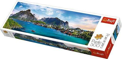 Trefl Puzzle, 500 elementów. Panorama - Archipelag Lofoty, Norwegia (GXP-645436)