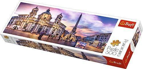 Trefl Puzzle, 500 elementów. Panorama - Piazza Navona, Rzym (GXP-645437)
