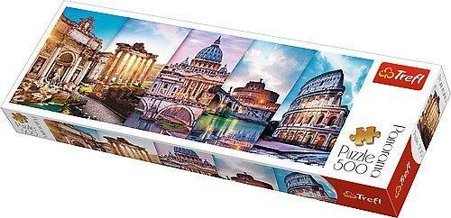 Trefl Puzzle, 500 elementów. Panorama - Podróż do Włoch (GXP-645441)