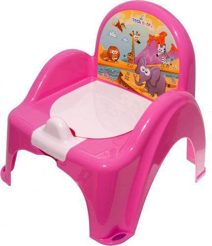 Tega Nocnik krzesełko z pozytywką Safari - różowy (PO-041-127)