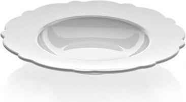 Alessi Zestaw 4 szt głębokich talerzy z białej porcelany z motywem dekoracyjnym średnica 23,3 cm (8003299318957)