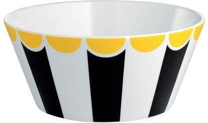 Alessi Miska ze stali nierdzewnej czarno-białe pasy średnica 16 cm (8003299404988)