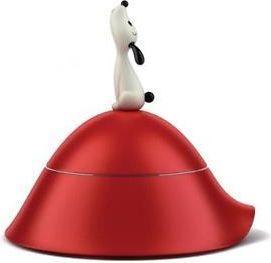 Alessi Miska dla psa polerowana stal nierdzewna/termoplastik czerwona (8003299958429)