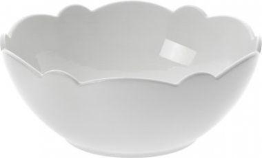 Alessi Zestaw 4 szt miseczek z białej porcelany z motywem dekoracyjnym 530 ml średnica: 15 cm (8003299319015)