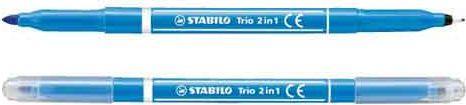 Stabilo Flamaster TRIO2IN1 jasno niebieski (071122a)