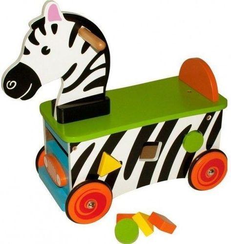 BigJigs Drewniany jeździk szalona Zebra