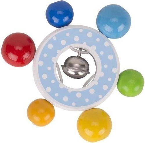 Heimess Pierścień drewniany confetti z dzwonkiem