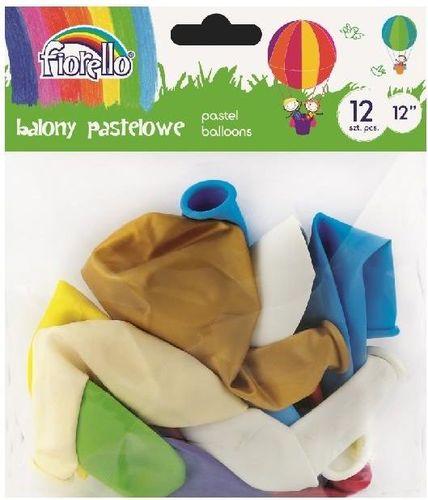 Fiorello Balony Pastel 12'' mix 12 sztuk FIORELLO