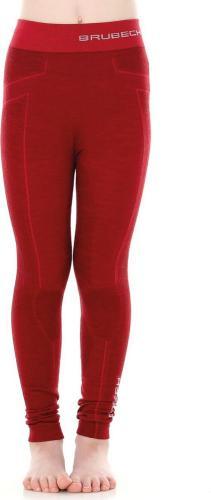 Brubeck Spodnie dziecięce Active Wool bordowe r. 152/158 (LE12130)