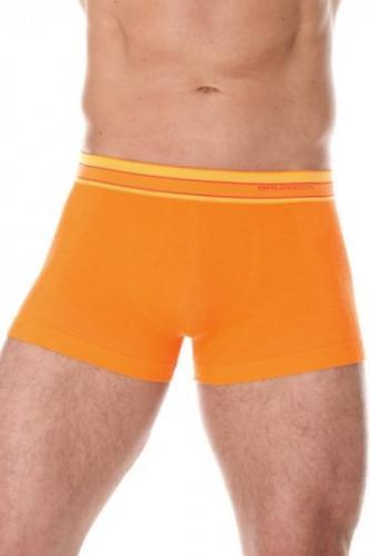 Brubeck Bokserki męskie Active Wool pomarańczowe r. XXL (BX10870)