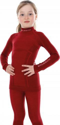 Brubeck  Bluza dziewczęca Active Wool Ls13680 czerwona r. 152/158 (P-BRU-ACTIVE WOOL-LS13690-318-{6}152/158)