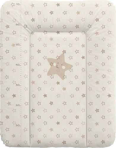 Ceba Ceba Baby, Przewijak miękki Gwiazdki beżowe, 50 x 70 cm