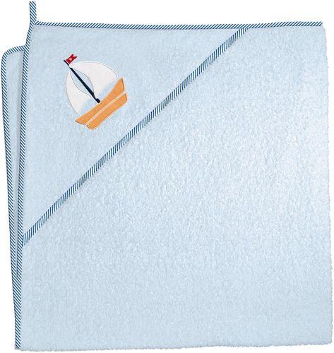 Ceba Baby Ceba Baby, Ręcznik dla niemowlaka Marynarski niebieski, 100 x 100 cm
