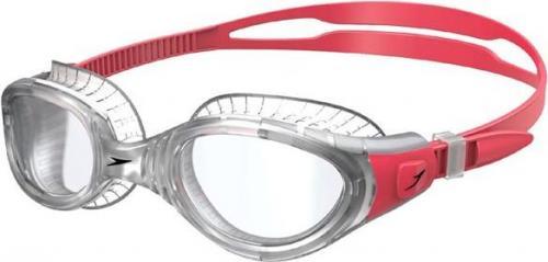 Speedo Okulary pływackie Futura BioFuse Flexiseal szaro-czerwone (13B991)