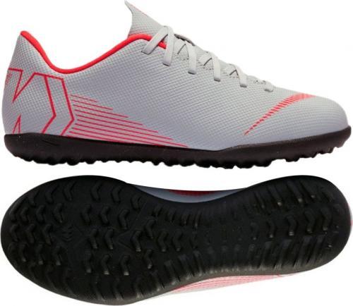 Nike Buty piłkarskie JR Mercurial VaporX 12 club TF GS szare r. 36 (AH7355 060)