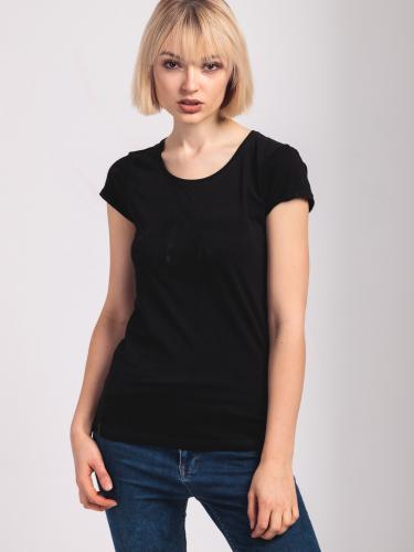 4f Koszulka damska czarna r. S (H4L18-TSD006 21S)