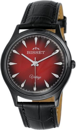 Zegarek Bisset Męski Vintage BSCE57 BIRX 05BX Klasyczny czarny