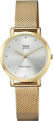 Zegarek Q&Q Damski QA21-001 Fashion Mesh Cyrkonie złoty