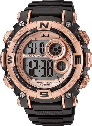 Zegarek Q&Q Męski M133-004 Dual Time czarno-złoty