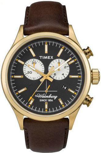 Zegarek Timex Męski TW2P75300 Waterbury Collection brązowy