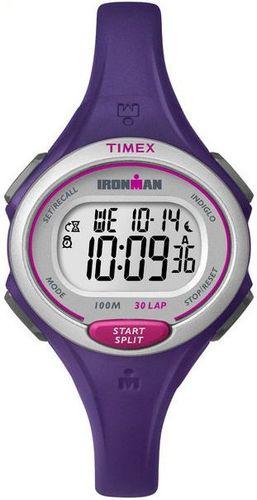 Zegarek Timex Damski IronMan TW5K90100 Triathlon 30 Lap fioletowy
