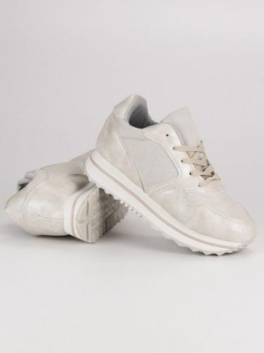 Marquiz Sneakersy damskie na platformie szare r. 37