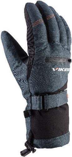 Viking Rękawice unisex Duster szaro-pomarańczowe r. 8 (110/20/2012/53)