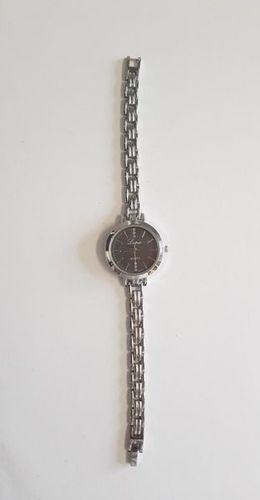 Zegarek GSM City Damski 22639 srebrno-czarny