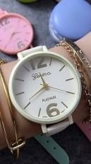 Zegarek GSM City Damski 22624 Platinum biały