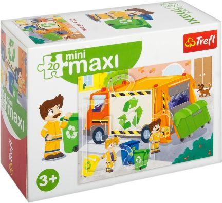 Trefl Puzzle, 20 elementów mini maxi - Śmieciara (294808)