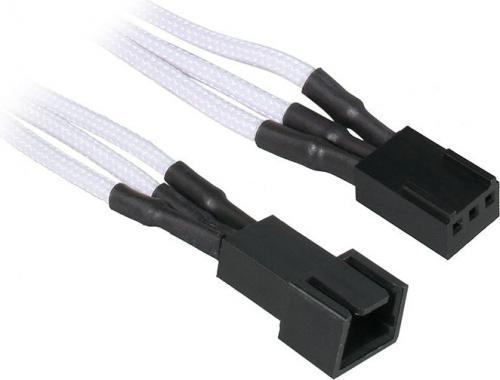BitFenix Przedłużacz do wentylatorów 3-Pin 90cm - opływowy biało czarny ( BFA-MSC-3F90WK-RP )