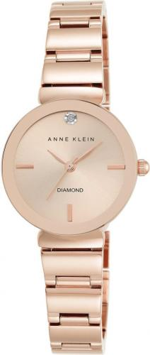 Zegarek Anne Klein Diamond Rose Gold (AK/2434RGRG)