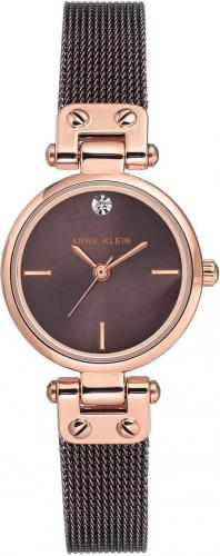 Zegarek Anne Klein Diamond Rose Gold Brown (AK/3003RGBN)