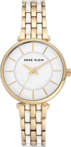 Zegarek Anne Klein Classic Gold & White (AK/3010WTGB)