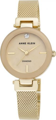 Zegarek Anne Klein Diamond Gold Mesh (AK/2472TMGB)