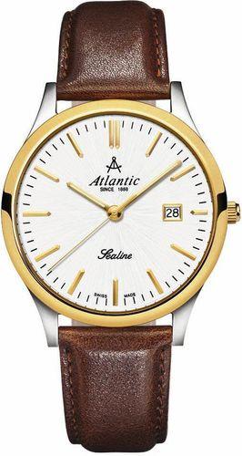 Zegarek Atlantic Męski Sealine 62341.43.21 Szafirowe szkło brązowy
