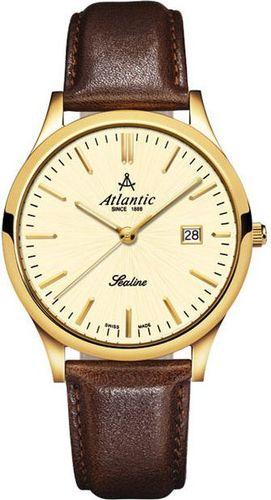 Zegarek Atlantic Męski SEALINE 22341.45.31 Szafirowe szkło brązowy