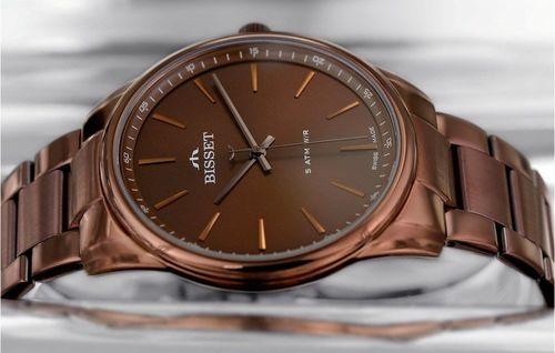 Zegarek Bisset Męski BSDE44 VIYX 03BX Klasyczny brązowy