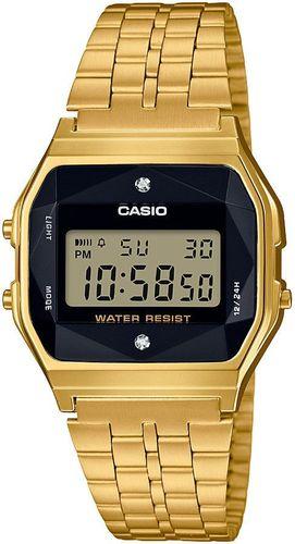 Zegarek Casio Damski Retro Diamond Limited A159WGED-1EF złoty