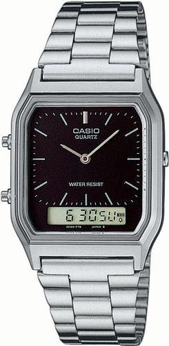 Zegarek Casio Męski  AQ-230A-1DMQYES Retro srebrny