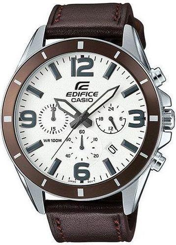 Zegarek Casio Męski  EFR-553L-7BVUEF Edifice Chronograf brązowy