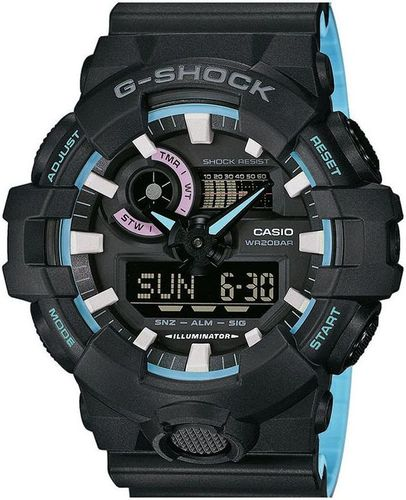 Zegarek Casio Męski G-Shock GA-700PC-1AER WR200 czarno-niebieski