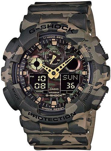 Zegarek Casio GA-100CM-5AER G-Shock Camouflage męski brązowy