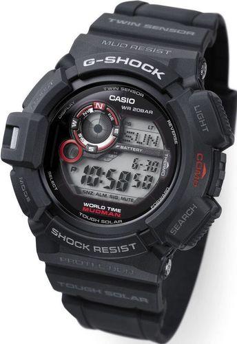 Zegarek Casio Męski G-9300-1ER G-Shock Mudman czarno-czerwony