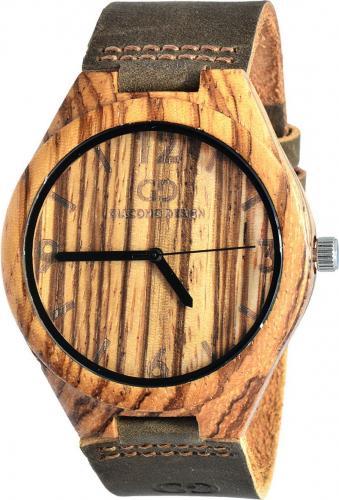 Zegarek Giacomo Design Drewniany ZebraWood (GD08002)