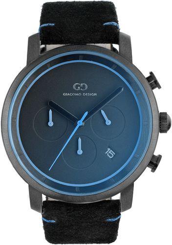 Zegarek Giacomo Design Męski GD11001 Chronograf czarny
